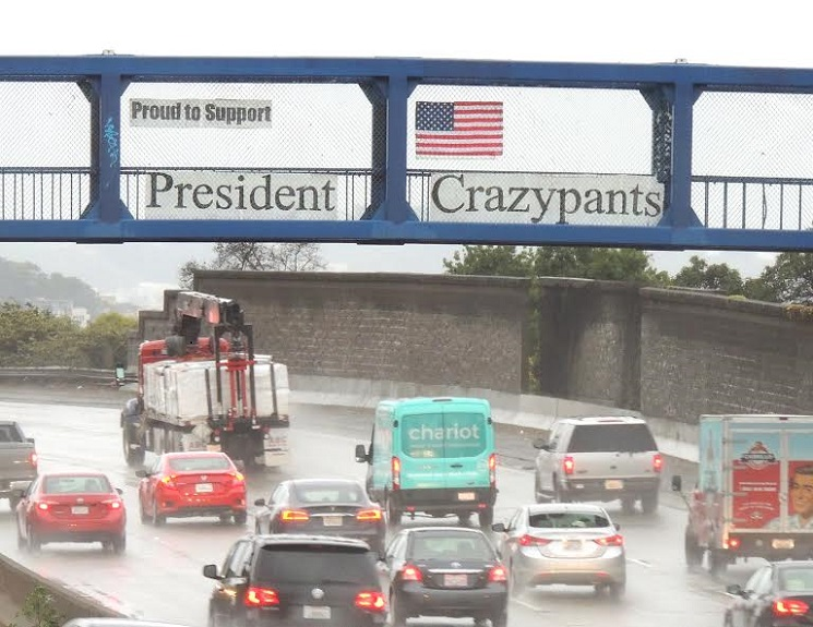 Proud to Support President Crazypants